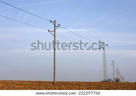 overhead power cable