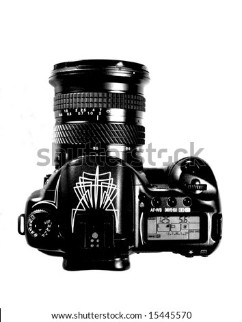 Overhead shot of camera - stock photo