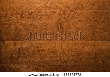 Overhead shot of the intricately distressed top of an old wooden table.  24 megapixel image from Nikon D800E. - stock photo