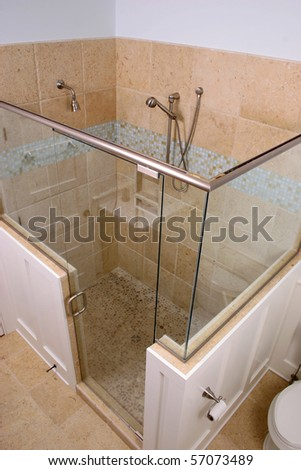 Overhead View Of Expensive Shower