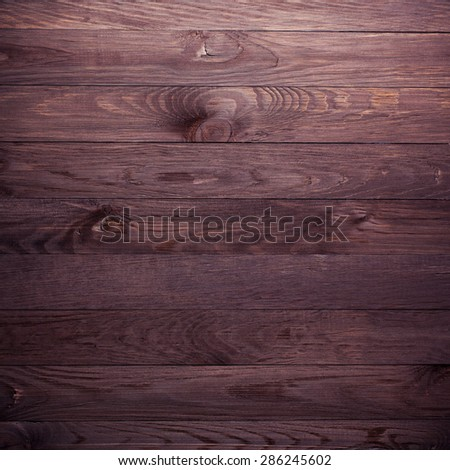 Overhead view of wooden table, background - stock photo