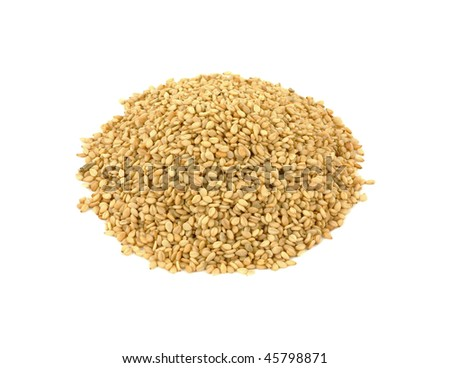 Overhead View Sesame Seeds