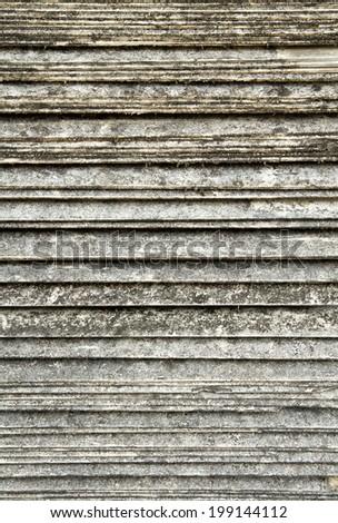 overlap arrange of Old tile roof texture - stock photo