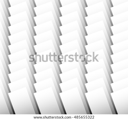 Overlapping standing rectangles. Monochrome pattern / background.