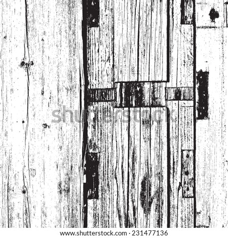 Overlay Wooden Texture - Distressed Dry Boards background for your design. - stock photo
