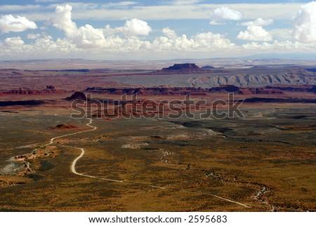 Overlook of Valley of the Gods, Utah - stock photo
