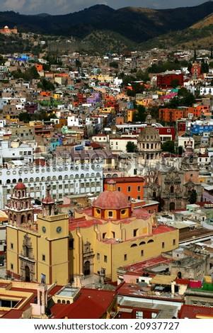 Overlook to Guanajuato - stock photo