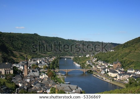 Overlooking Cochem Germany and the Moselle River.