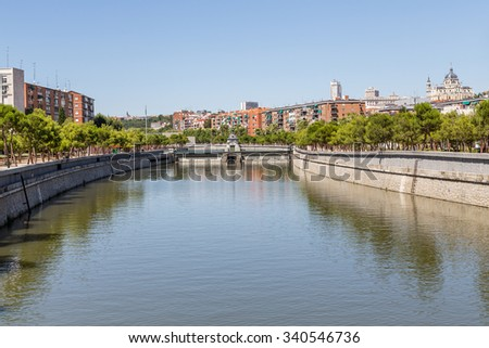 Overlooking the streets of Madrid - stock photo
