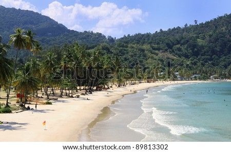 Overview of Maracas Beach - Trinidad - stock photo