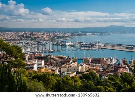 Overview of Palma de Majorca - stock photo