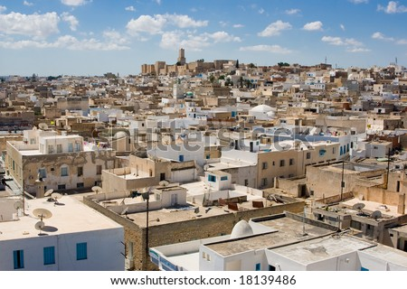overview of sousse (tunisia) - stock photo