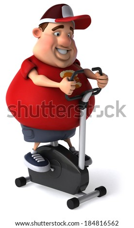 Overweight kid - stock photo