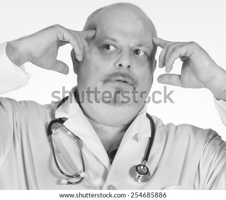 Overworked Medical Staff - stock photo