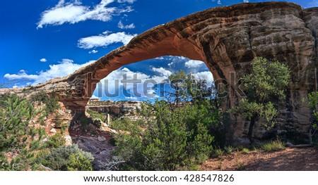 Owachomo bridge in Natural Bridges National Monument, Utah, USA - stock photo