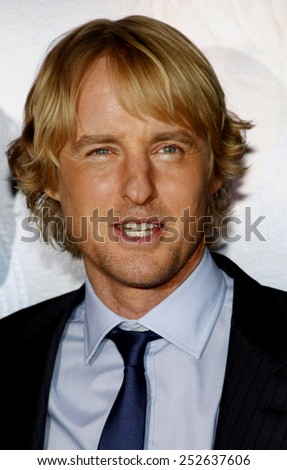 """Owen Wilson at the Los Angeles Premiere of """"How Do You Know"""" held at the Regency Village Theater in Westwood, California, United States on December 13, 2010. - stock photo"""