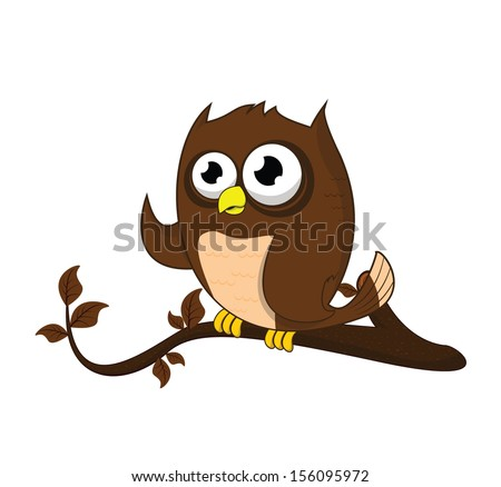 owl tree  - stock photo