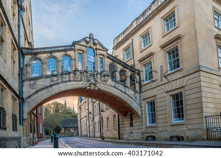 Oxford in the morning, HDR - stock photo