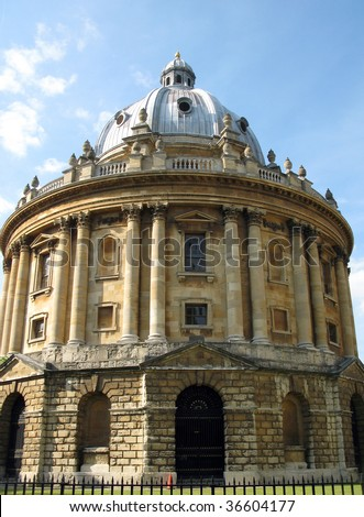 Oxford Radcliffe Library Building. - stock photo
