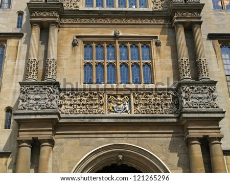 Oxford University, Bodleian Library - stock photo
