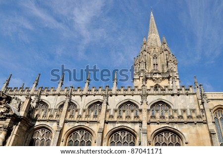 Oxford University Church of St Mary the Virgin, England - stock photo