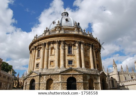 Oxford University - Radcliffe Library Building - stock photo