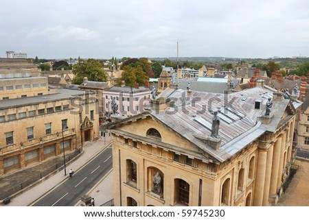 Oxford viewed from Sheldonian theater. England