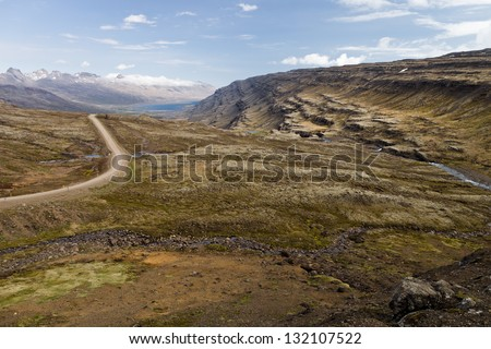 Oxi Mountain pass - stock photo