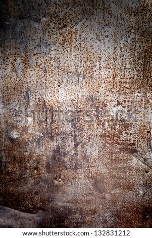 Oxidazed metal surface making an abstract texture, high resolution. - stock photo