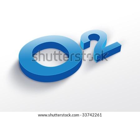 Oxygen symbol - stock photo