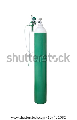 Oxygen Tank hospital on isolated - stock photo