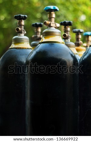 Oxygen tanks - stock photo