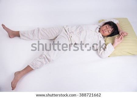 oy asian young bed child kid sleep bedroom peple sweet relax night peaceful dream pyjamas