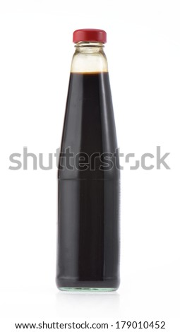 Oyster sauce isolated on white - stock photo