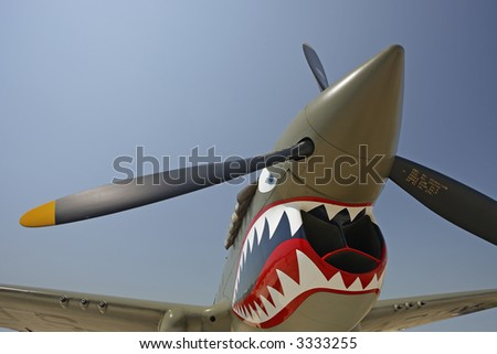 "P-40 ""Flying Tiger""Warhawk - stock photo"