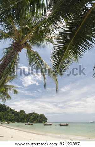 Pa tong beach on the island of Phuket in Thailand - stock photo