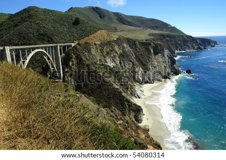 Pacific Coast Highway, California - stock photo