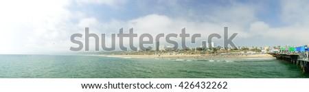 Pacific Coast in Santa Monica - stock photo