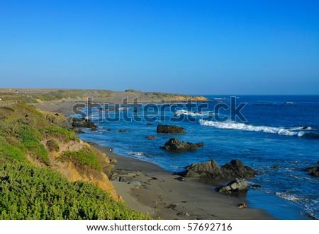 pacific coastline California - stock photo