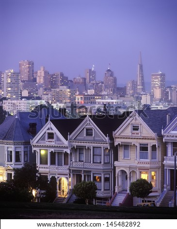Pacific Heights San Francisco - stock photo
