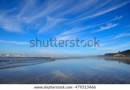 blue ocean clouds scenic - photo #43