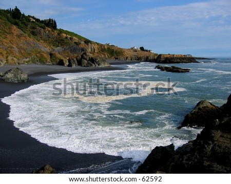 Pacific Ocean at Shelter Cove, CA - stock photo