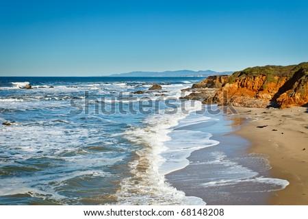 Pacific Ocean coast, California, USA - stock photo