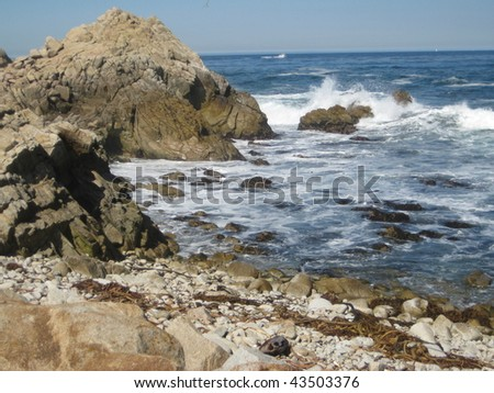 Pacific Ocean off California Coast - stock photo