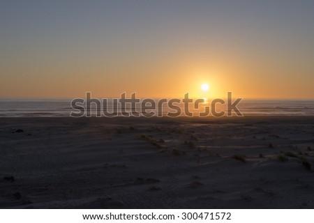 pacific sunset - stock photo