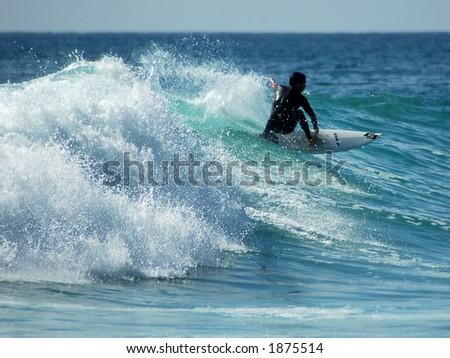 Pacific Surfer - stock photo