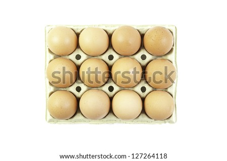 Pack fresh eggs, detail of raw food, healthy food