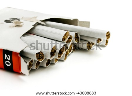 pack of cigarettes isolated on a white background