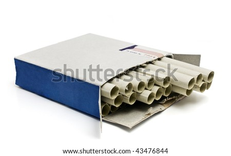 pack of cigarettes isolated on a white background - stock photo
