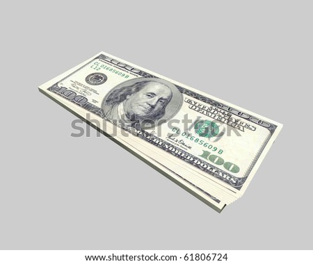 pack of dollars - stock photo